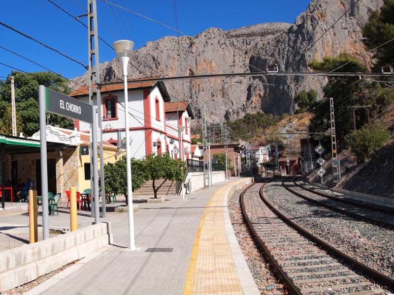 Estación de Tren de El Chorro en Málaga