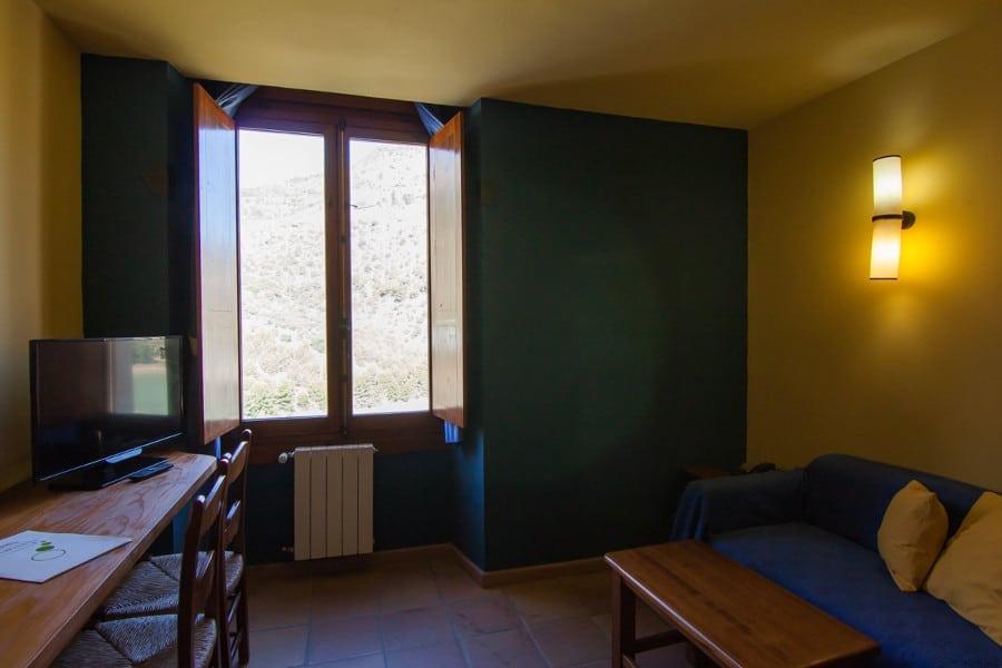 Salon de la habitación doble duplex