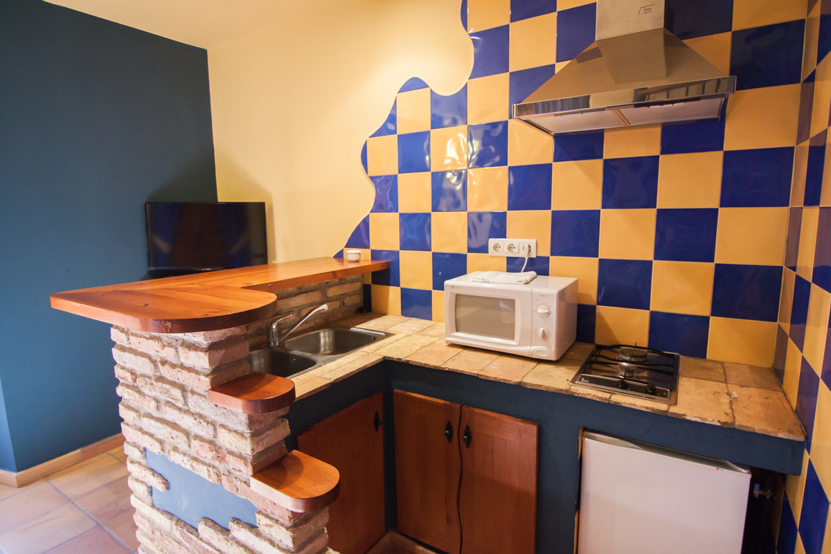 Cocina equipada de la habitación doble duplex