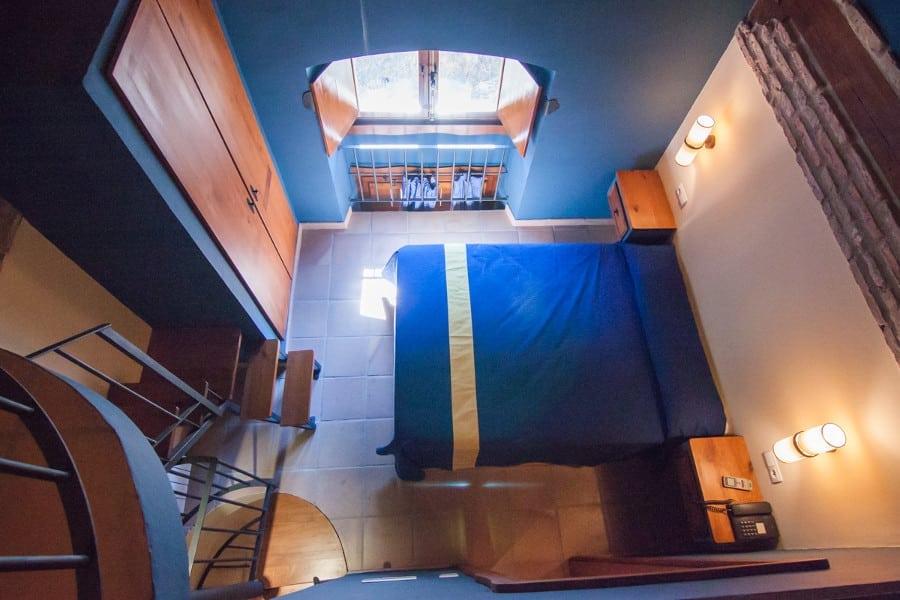 Interior de la habitación doble duplex con cocina