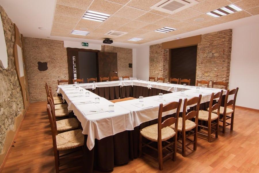 Sala de reuniones del complejo La Garganta