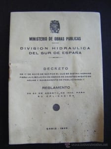 South Spain Hydraulic Division Decree