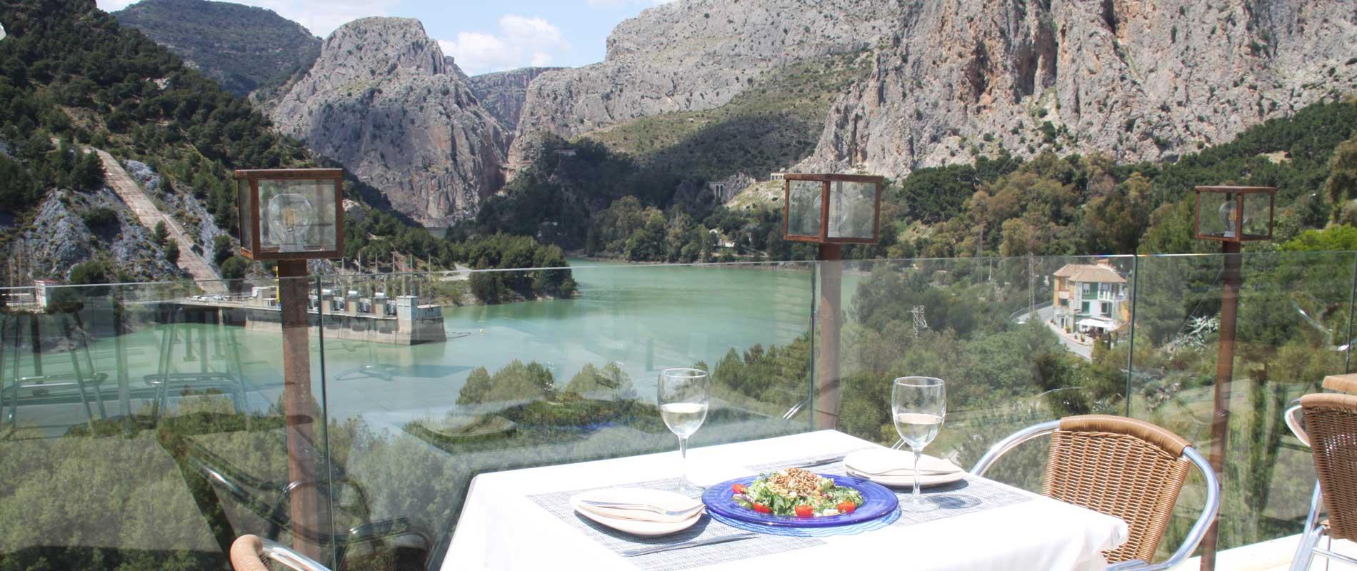 Vistas desde el Restaurante de La Garganta