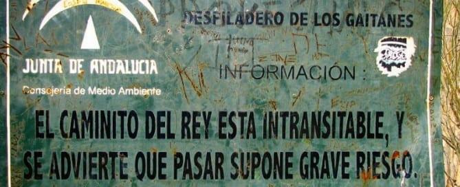 Cartel-Caminito-del-Rey-Intransitable