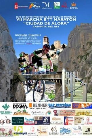 Cartel VII Marcha BTT Maratón Ciudad de Álora
