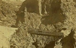 Puente de la fuente o de la Josefona en construcción