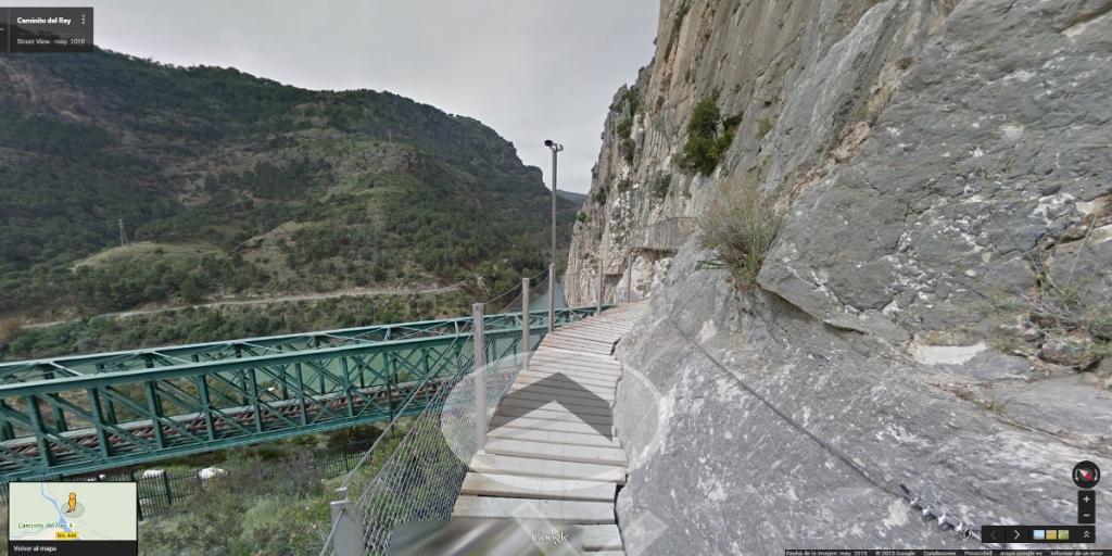 Street View del Caminito del Rey