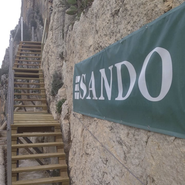 Escalera en el Caminito del Rey