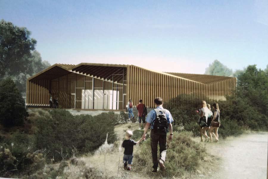 Maqueta estructura centro de visitantes del Caminito del Rey
