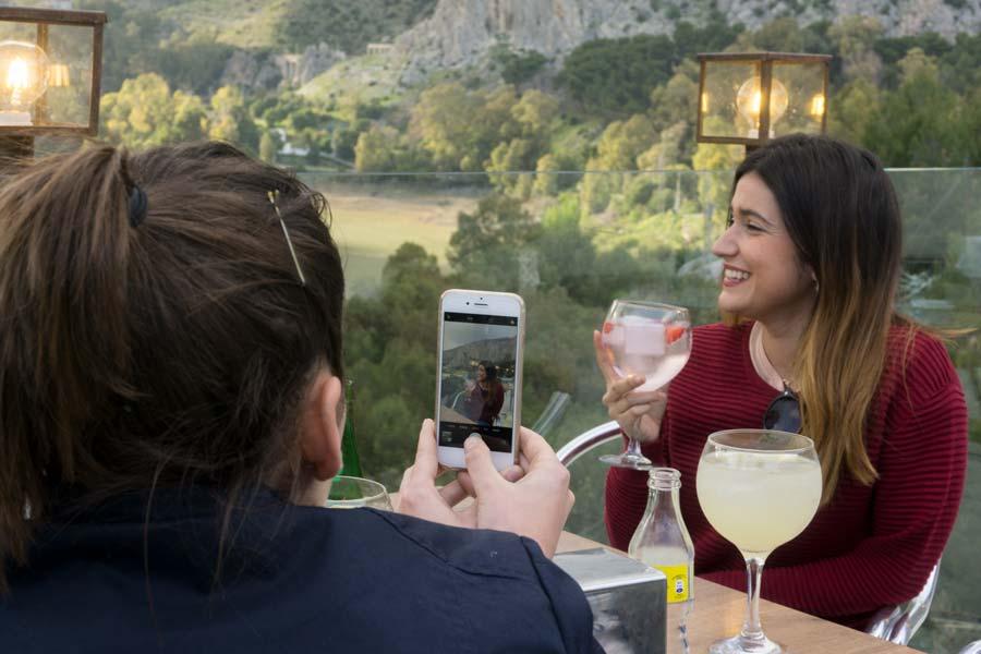 Foto desde la terraza del restaurante de La Garganta