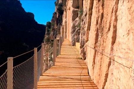 Pasarela del Caminito del Rey restaurada